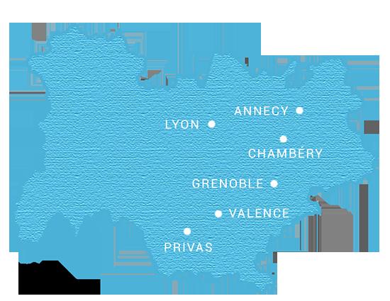 Nous louons du matériel de réception dans toute la région Rhône Alpes